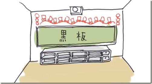バス誕生表壁面イラスト3
