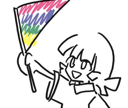 持ち手つき旗