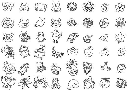 48種類アソート(塗り絵)