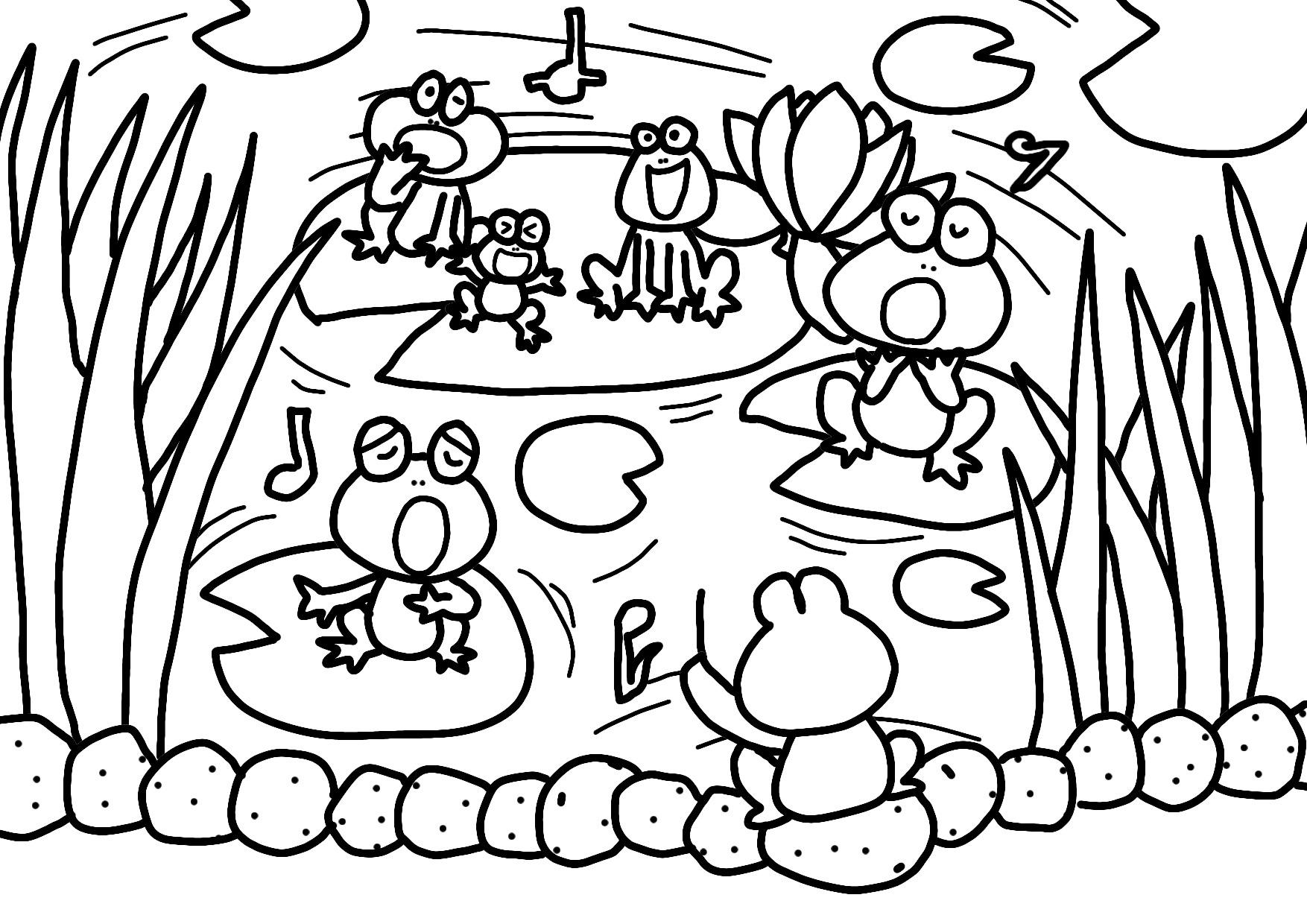 無料ぬりえ6月 かえるの合唱 かたつむりとあじさい かさ 長靴 かっぱ等 保育園の乳児クラス 幼児クラス向きイラスト配布 男性保育士あつみ先生の保育日誌 おすすめ絵本と制作アイデア
