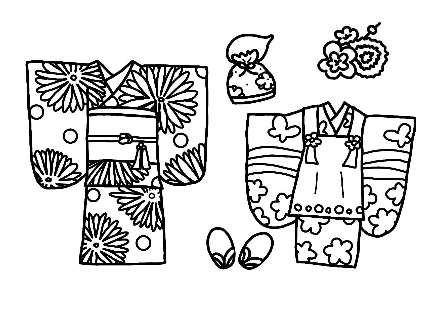 11月の無料ぬりえ焼き芋落ち葉造形展七五三千歳飴保育園や